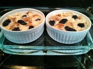 bread pudding water bath